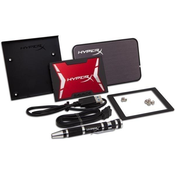 Kingston 120GB HyperX SAVAGE SSD SATA 3 2.5 Bundle Kit