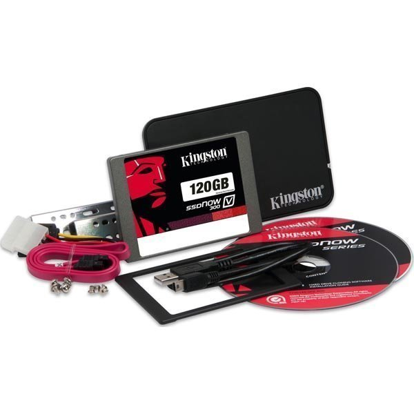 Kingston 120GB SSDNow V300 SATA 3 2.5 (7mm) Bundle kit w/Adapter""