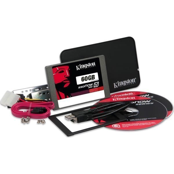 Kingston 60GB SSDNow V300 SATA 3 2.5 (7mm) Bundle kit w/Adapter""