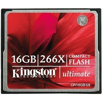 Kingston CF/16GB-U2 Ultimate 266X Compact Flash Muistikortti 16Gt