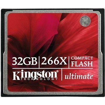 Kingston CF/32GB-U2 Ultimate 266X Compact Flash Muistikortti 32Gt
