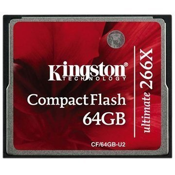 Kingston CF/64GB-U2 Ultimate 266X Compact Flash Muistikortti 64Gt