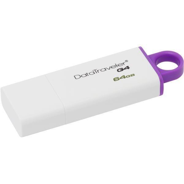 Kingston DataTraveler G4 USB 3.0 muisti 64GB val/lila - (DTIG4/64GB)
