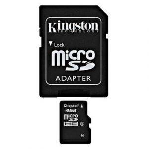 Kingston Flash-muistikortti Microsdhc 4gb