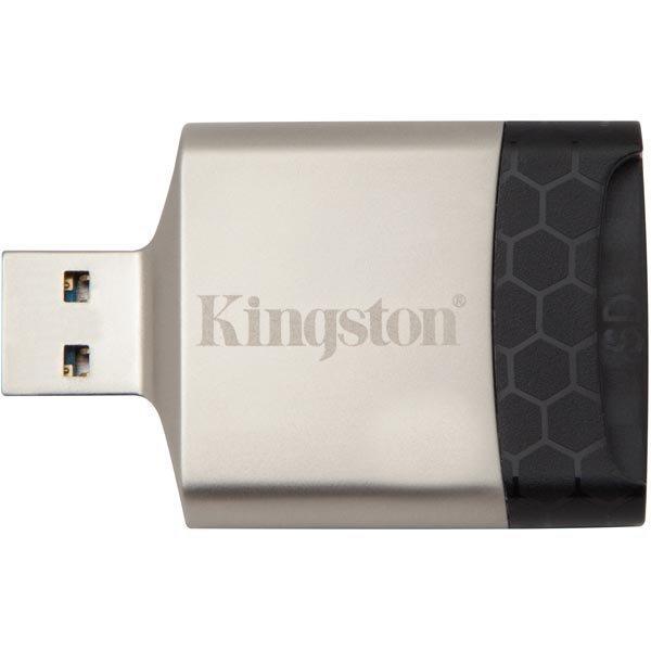 Kingston MobilLite G4 USB3.0 muistikortinlukija lukee seuraavia SD/SDHC/SDXC UHS-II microSD/SDHC/SDXC UHS-I hopea