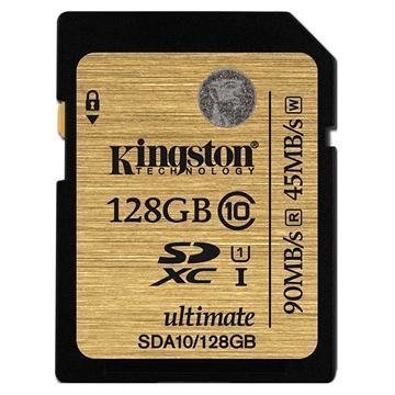 Kingston SDA10/128GB Ultimate SDXC Muistikortti 128Gt