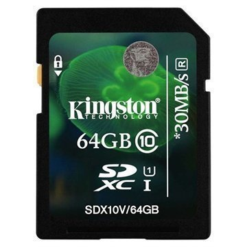 Kingston SDX10V/64GB SDXC Muistikortti 64Gt