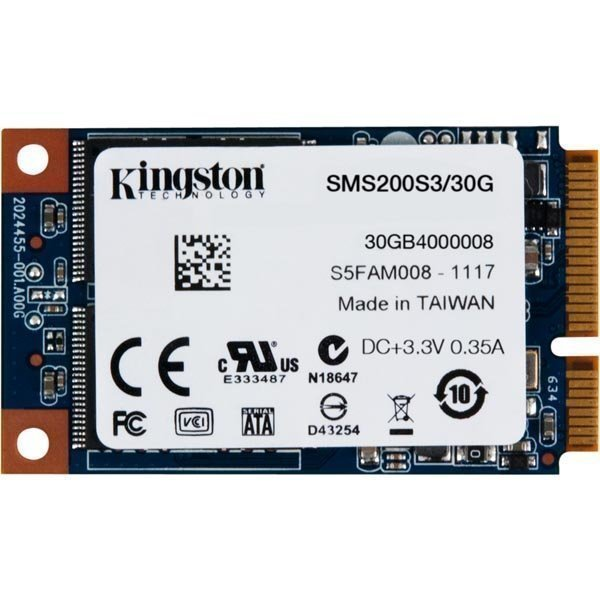 Kingston SMS200S3/30G SSDNow mS200 mSATA SATA 6Gb/s 30GB TRIM