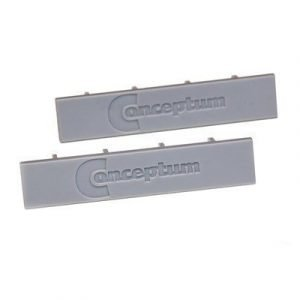 Kondator Conceptum End Pieces M-profil 14x72mm Gray 2pcs
