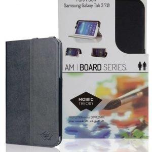 Kotelo PU-nahkaa Galaxy Tab 3 7.0 -tableteille musta