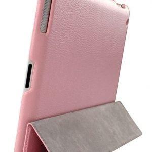 Kotelo PU-nahkaa iPad 2/3/4-tabletille pinkki