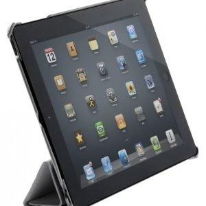 Kotelo nahkaa iPad 2/3/4-tabletille musta
