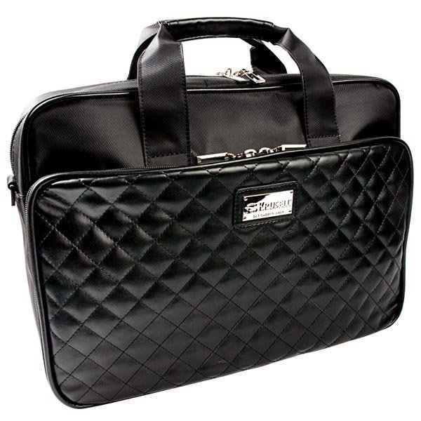 "Krusell Avenyn laptop bag tekonahkaa max. 16 musta"""