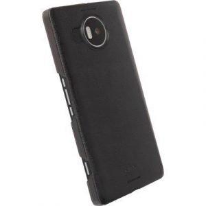 Krusell Boden Takakansi Matkapuhelimelle Microsoft Lumia 950 Xl Läpikuultava Musta