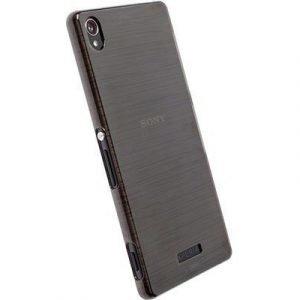 Krusell Boden Takakansi Matkapuhelimelle Sony Xperia Z5 Läpikuultava Musta