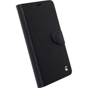 Krusell Borås Foliowallet Läppäkansi Matkapuhelimelle Microsoft Lumia 950 Musta