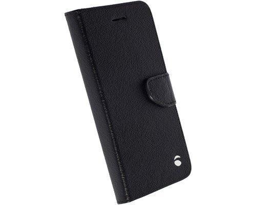 Krusell Borås Foliowallet Läppäkansi Matkapuhelimelle Samsung Galaxy S7 Edge Musta