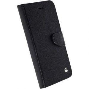 Krusell Borås Foliowallet Läppäkansi Matkapuhelimelle Samsung Galaxy S7 Musta