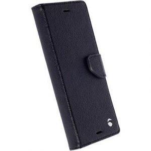 Krusell Borås Foliowallet Läppäkansi Matkapuhelimelle Sony Xperia X Musta