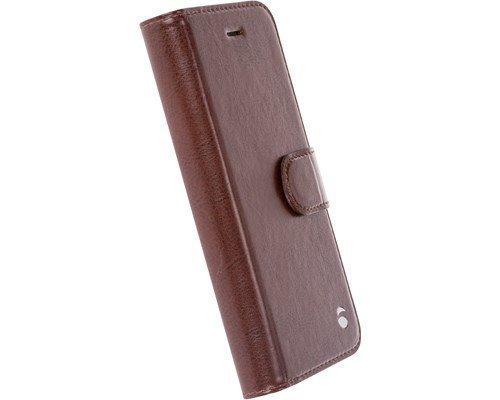Krusell Ekerö Foliowallet 2in1 Läppäkansi Matkapuhelimelle Iphone 7 Kahvi