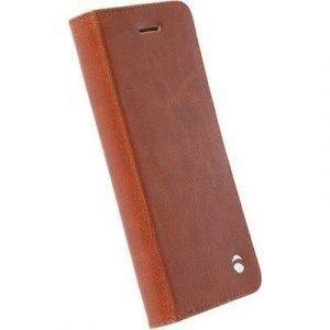 Krusell Ekerö Foliowallet 2in1 Läppäkansi Matkapuhelimelle Samsung Galaxy S7 Konjakki