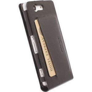 Krusell Kalmar Walletcase Mfx Läppäkansi Matkapuhelimelle Sony Xperia Z3 Compact Musta