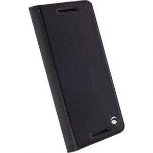 Krusell Malmö Foliocase Läppäkansi Matkapuhelimelle Google Nexus 5x Musta