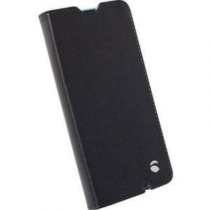 Krusell Malmö Foliocase Läppäkansi Matkapuhelimelle Microsoft Lumia 550 Musta