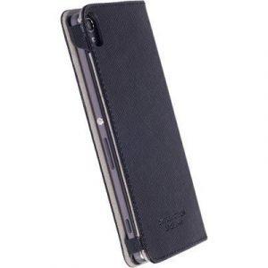 Krusell Malmö Foliocase Takakansi Matkapuhelimelle Sony Xperia Xa Musta