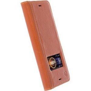 Krusell Sigtuna Smartcase Sony Xperia X Compact Konjakki