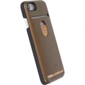 Krusell Timra Walletcover Takakansi Matkapuhelimelle Iphone 7 Ruskea