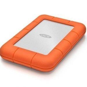 Lacie Rugged Mini 500gb 7200rpm Usb 3.0/2.0 0.5tb Harmaa Oranssi