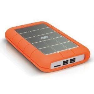 Lacie Rugged Triple 500gb External Usb 3.0 Fw/800 7200rpm 0.5tb Harmaa Oranssi