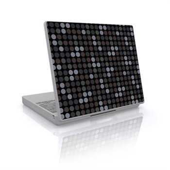 Laptop Skin Big Dots Grey