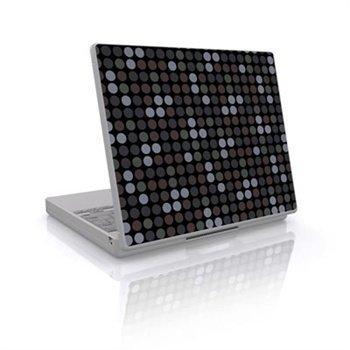 Laptop Skin Big Dots Grey