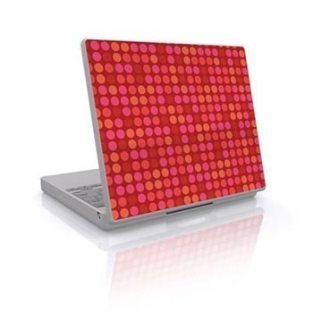Laptop Skin Big Dots Red
