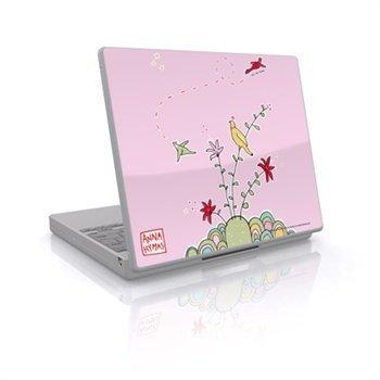 Laptop Skin Birds On A Hill Pink