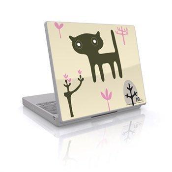 Laptop Skin Cat Black