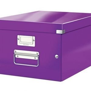 Leitz Storage Box Medium Click & Store Purple