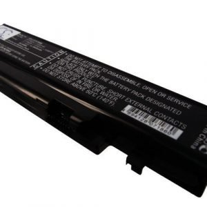 Lenovo IdeaPad Y470 akku 4400mAh / 48.84Wh mAh - Musta