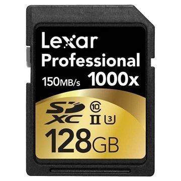 Lexar LSD128CRBEU1000 Professional 1000x SDXC Muistikortti 128Gt