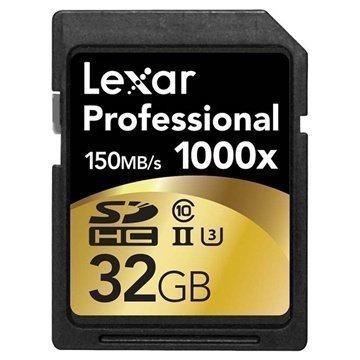 Lexar LSD32GCRBEU1000 Professional 1000x SDHC Muistikortti 32Gt
