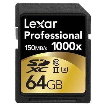 Lexar LSD64GCRBEU1000 Professional 1000x SDXC Muistikortti 64Gt