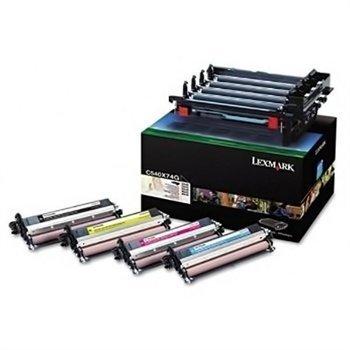 Lexmark C 540 N X 543 DN Toner Kit C540X74G Black Cyan Magenta Yellow