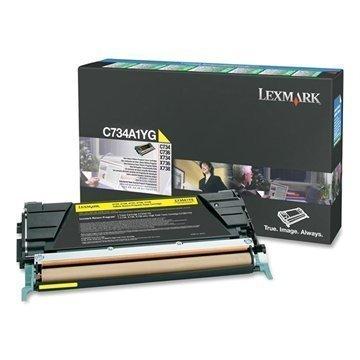 Lexmark C734A1YG Väri C 734 DN X 734 DE Keltainen