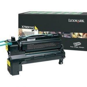 Lexmark Värikasetti Keltainen 20k X792de
