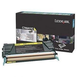 Lexmark Värikasetti Keltainen 7k C746/c748 Return