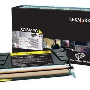 Lexmark Värikasetti Keltainen 7k X746/x748 Return