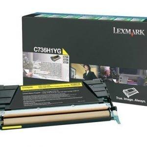 Lexmark Värikasetti Keltainen C736/x736/x738