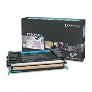 Lexmark Värikasetti Syaani 6k C73x X73x Return